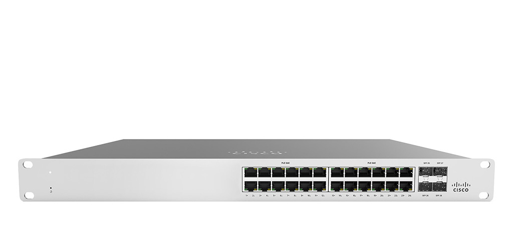 Meraki MS120-24 1G L2 Cloud Managed 24x GigE Switch + 1 Año Soporte y Licencia enterprise
